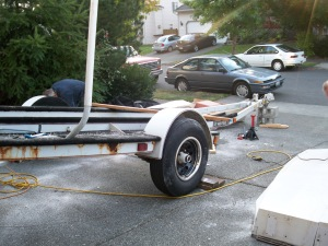 No boat on the trailer