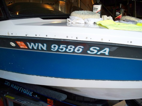 Registration numbers - I still have work to go on the bottom of the hull