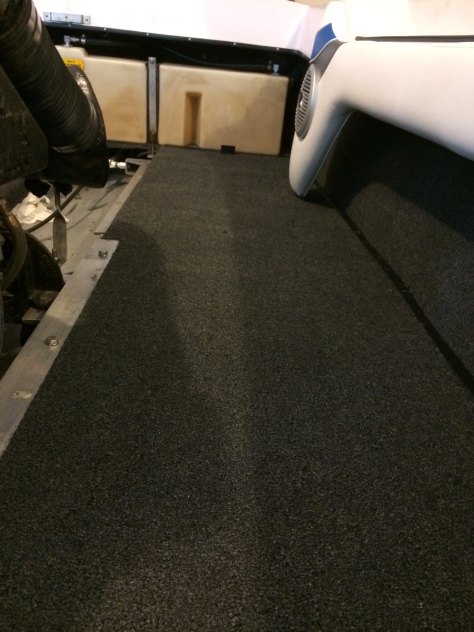 Carpet glued down
